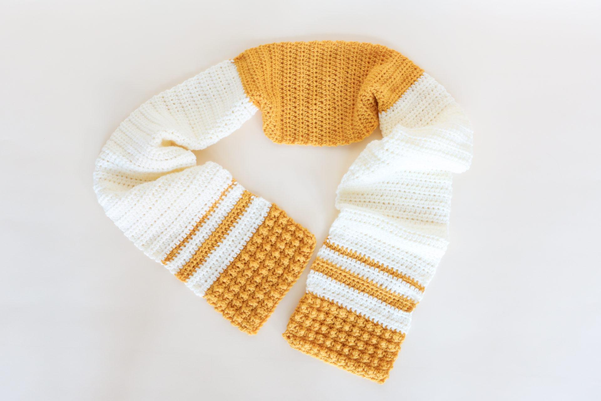 Crochet Honey Mustard Scarf